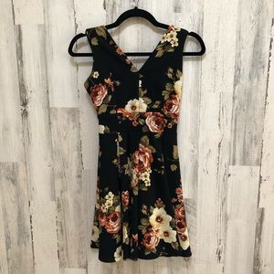 Haute Mode Fit and Flare Floral Dress